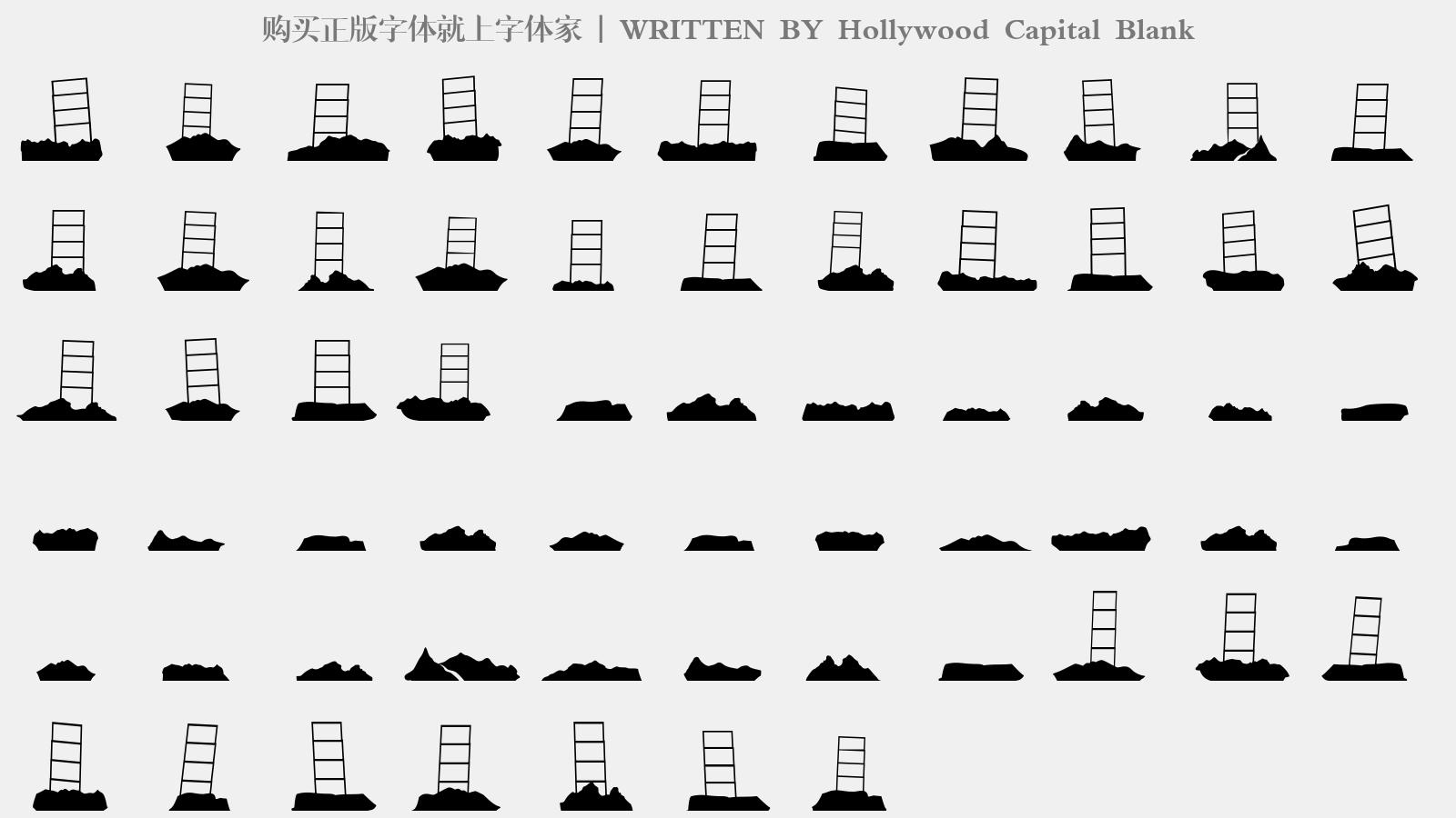 Hollywood Capital Blank - 大寫字母/小寫字母/數字