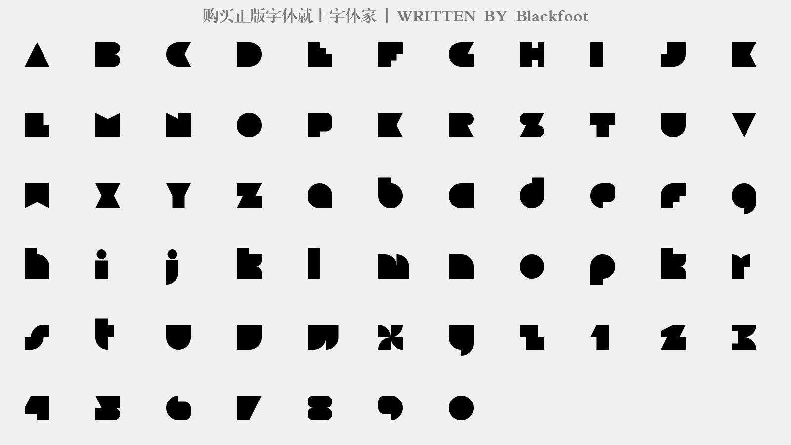 Blackfoot - 大寫字母/小寫字母/數字